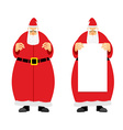 Santa Claus holding blank Grandfather with a grey vector image vector image