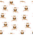 seamless pattern with cute owl vector image
