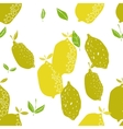 Seamless pattern with lemons background of fruits vector image vector image