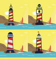 set collection lighthouse logo vector image vector image