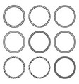 set of round rope frame collection of thick and vector image vector image