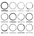 set round frames sloppy shape and texture vector image vector image