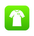 shirt with flag of brazil sign icon digital green vector image