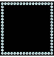 Square frame made of diamonds vector image vector image