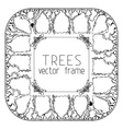 Square trees frame vector image vector image
