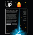startup infographic flyer template vector image