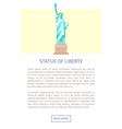 statue of liberty web page vector image vector image