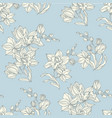 tropical seamless pattern with tender orchid vector image