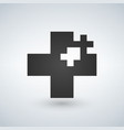 two crosses medicine or christian logo concept vector image vector image