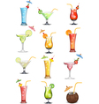 Variations in fruit and vegetable juices vector image