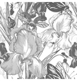 Vintage garden flowers seamless pattern vector image vector image
