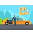 Vip taxi service vector image