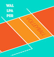 volleyball pitch background vector image vector image