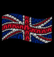 waving great britain flag mosaic of find vector image
