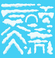white figures made of ice set on blue background vector image