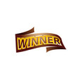 winner label vector image