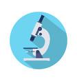 flat design of microscope icon vector image