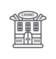 casino building concept thin line icon vector image