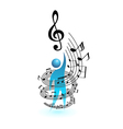 music concept people vector image