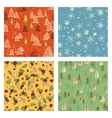 Christmas doodle pattern set vector image