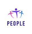 people logo template creative vector image