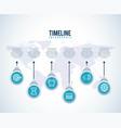 timeline infographic world business target diagram vector image