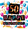 50 years anniversary banner vector image vector image