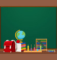 a chalkboard template with objects vector image