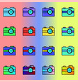 a series of multi-colored vector image vector image