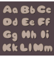 abc bold cocoa vector image vector image
