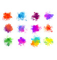 abstract colorful watercolor splatters set of vector image vector image