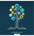 Abstract education background Growth tree concept vector image vector image