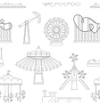 Amusement Park icons pattern vector image vector image