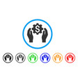 banking maintenance hands rounded icon vector image