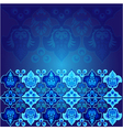 blue ottoman serial patterns nine vector image vector image