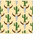 cactus nature desert flower mexican succulent vector image vector image