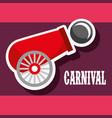cannon ball poster carnival fun fair festival vector image