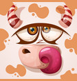 cartoon funny cute cow character halloween vector image vector image