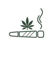 cigarette with drug marijuana cigarette rolled vector image