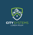 city tech logo designs vector image