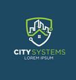 city tech logo designs vector image
