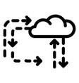 cloud direction icon outline style vector image