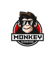 cool monkey logo design vector image