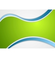 Corporate wavy background vector image vector image