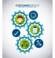 customer support vector image vector image
