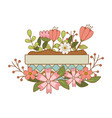 cute flowers and leafs in pot garden vector image vector image