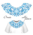 design for collar t-shirts and blouses vector image vector image