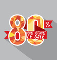 Discount 80 Percent Off vector image vector image