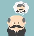 Dreams of bald men vector image vector image