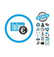 Euro Barcode Flat Icon with Bonus